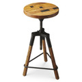 """NOTTINGHAM SQUARE"" REVOLVING BAR STOOL - INDUSTRIAL LOOK FURNITURE - FREE SHIPPING*"