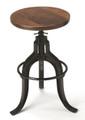"""OXFORD SQUARE"" REVOLVING BAR STOOL - INDUSTRIAL LOOK FURNITURE - FREE SHIPPING*"