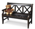 MARLSTON MANOR WOODEN BENCH - MIDNIGHT ROSE - FREE SHIPPING*