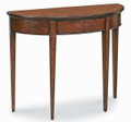 BRIARCLIFF DEMILUNE INLAID CONSOLE TABLE - PLANTATION CHERRY FINISH - FREE SHIPPING*