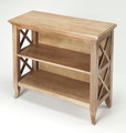 BURNBREIGH LOW BOOKCASE - BOOKSHELF - DRIFTWOOD FINISH - FREE SHIPPING*