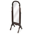 FULL LENGTH DRESSING MIRROR - FLOOR MIRROR - CHEVAL MIRROR - DARK CHERRY FINISH - FREE SHIPPING*