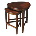 HAVERSHAM NESTING TABLES - NEST OF TABLES - SET OF TWO - ANTIQUE CHERRY FINISH - FREE SHIPPING*