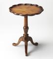 PARKWOOD PIECRUST SIDE TABLE - VINTAGE OAK FINISH - FREE SHIPPING*