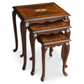 BLAKELY INLAID NESTING TABLES - SET OF THREE - NESTED TABLES - FREE SHIPPING*