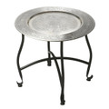 CASABLANCA ROUND EMBOSSED METAL COFFEE TABLE - FREE SHIPPING*