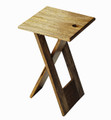 VAUXHALL CONTEMPORARY FOLDING TABLE - NATURAL FINISH - FREE SHIPPING*