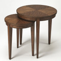 """PALM SPRINGS"" ROUND NESTING TABLES - SET OF 2 - COCOA FINISH - FREE SHIPPING*"