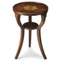 BRIDGEPORT ROUND INLAID SIDE TABLE - PLANTATION CHERRY FINISH - FREE SHIPPING*