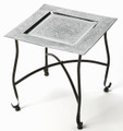 TANGIERS EMBOSSED METAL COFFEE TABLE - SQUARE TEA TABLE - FREE SHIPPING*