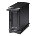 SAVANNAH SIDE TABLE - END TABLE WITH PULL OUT SHELF - BLACK LICORICE FINISH - FREE SHIPPING*