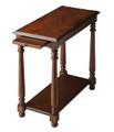 MONTEREY CHAIR SIDE TABLE WITH PULL OUT SHELF - CASTLEWOOD FINISH - FREE SHIPPING*