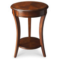 WESTMINSTER INLAID ROUND SIDE TABLE - OLIVE ASH BURL FINISH - FREE SHIPPING*