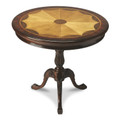 RUTHERFORD INLAID ROUND TABLE - PLANTATION CHERRY FINISH - FREE SHIPPING*