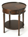 STOCKWELL ROUND SIDE TABLE - END TABLE - PLANTATION CHERRY FINISH - FREE SHIPPING*