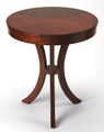 PRESIDIO ROUND SIDE TABLE - END TABLE - UMBER FINISH - FREE SHIPPING*