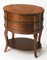 BRISBANE MANOR OVAL TABLE - SIDE TABLE - END TABLE - UMBER FINISH - FREE SHIPPING*
