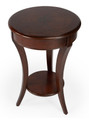 WESTMINSTER ROUND INLAID SIDE TABLE - PLANTATION CHERRY FINISH - FREE SHIPPING*