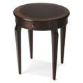 BRAZZAVILLE ROUND INLAID SIDE TABLE - END TABLE - FREE SHIPPING*