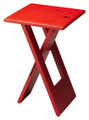VAUXHALL CONTEMPORARY FOLDING TABLE - RED - FREE SHIPPING*