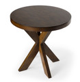 WEXLEY ROUND TABLE - SIDE TABLE - END TABLE - PRALINE FINISH - FREE SHIPPING*