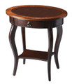 BRAZZAVILLE INLAID OVAL SIDE TABLE - END TABLE - FREE SHIPPING*