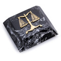SCALES OF JUSTICE MARBLE PAPERWEIGHT - LAWYERS & LEGAL