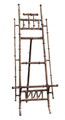 """CANTON"" BAMBOO STYLE TABLETOP DISPLAY EASEL - DISPLAY STAND - SMALL PICTURE STAND - ANTIQUE SILVER - 16""H EASEL"