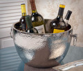 """KNIGHTSBRIDGE"" HAMMERED ALUMINUM WINE COOLER"