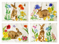 """""""BUNNY IN THE GARDEN"""" PLACE MATS - SET OF FOUR PLACEMATS"""