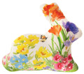 FLOWER GARDEN BUNNY RABBIT SHAPE PILLOW - FLORAL DECOR