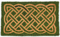 "CELTIC KNOT COIR DOORMAT - 18"" X 30"" - DOOR MAT - IRISH WELCOME MAT"