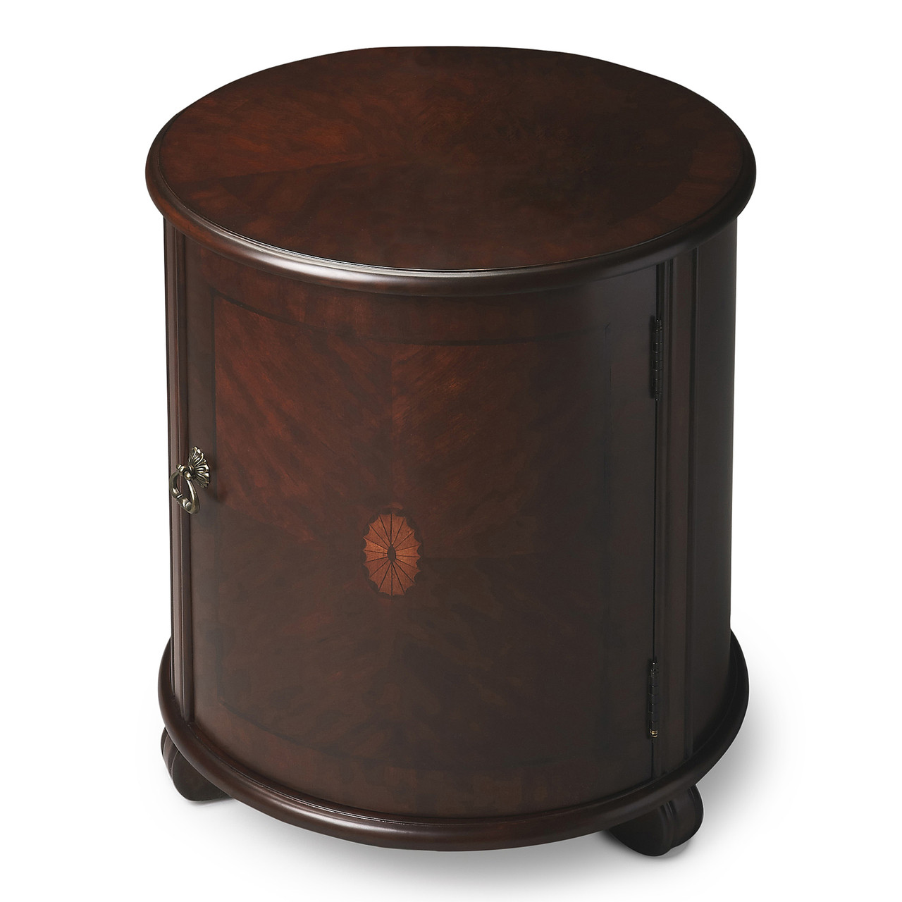 on sale 53912 bce96 RUSHCLIFFE ROUND INLAID DRUM TABLE - END TABLE - PLANTATION CHERRY FINISH -  FREE SHIPPING*