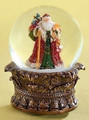 SANTA WITH CHRISTMAS GIFTS MUSICAL SNOW GLOBE
