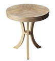 PRESIDIO ROUND TABLE - SIDE TABLE - END TABLE - DRIFTWOOD FINISH - FREE SHIPPING*