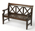 MARLSTON MANOR WOODEN BENCH - PLANTATION CHERRY FINISH - FREE SHIPPING*