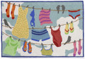 """LAUNDRY TIME"" INDOOR OUTDOOR RUG - 30"" x 48"" -  LAUNDRY ROOM - MUD ROOM"