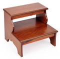 STRATFORD HALL WOODEN STEP STOOL - BED STEPS - OLIVE ASH BURL FINISH - FREE SHIPPING*