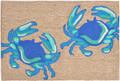 """DANCING BLUE CRABS"" INDOOR OUTDOOR RUG - BLUE CRAB RUG - 30"" x 48"" - NAUTICAL DECOR"