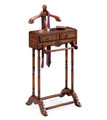 VALET & SUIT STANDS - GENTLEMANS VALET STAND - CHERRY FINISH - FREE SHIPPING*