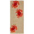 """DANCING CRABS"" INDOOR OUTDOOR RUG - 24"" X 60"" RUNNER - CRAB RUG"
