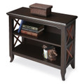 BURNBREIGH LOW BOOKCASE - BOOKSHELF - BLACK & CHERRY FINISH - FREE SHIPPING*