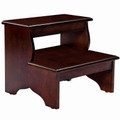 ROCKINGHAM WOODEN STEP STOOL - TWO STEP WOODEN BED STEPS - PLANTATION CHERRY FINISH - FREE SHIPPING*