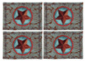 """WESTERN STAR"" TAPESTRY PLACE MATS - SET OF FOUR  - BLUE - PLACEMATS"