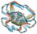 BLUE CRAB METAL WALL SCULPTURE - NAUTICAL DECOR