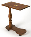 SORRENTO INLAID PORTABLE TABLE - ROLLING TRAY TABLE -  OLIVE ASH BURL FINISH - FREE SHIPPING*