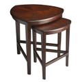 HAVERSHAM NESTING TABLES - NESTED TABLES - SET OF TWO - CHOCOLATE FINISH - FREE SHIPPING*