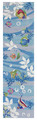 """CARIBBEAN SEA"" HAND HOOKED TROPICAL FISH RUG - NAUTICAL DECOR - 24"" x 90"" RUNNER"