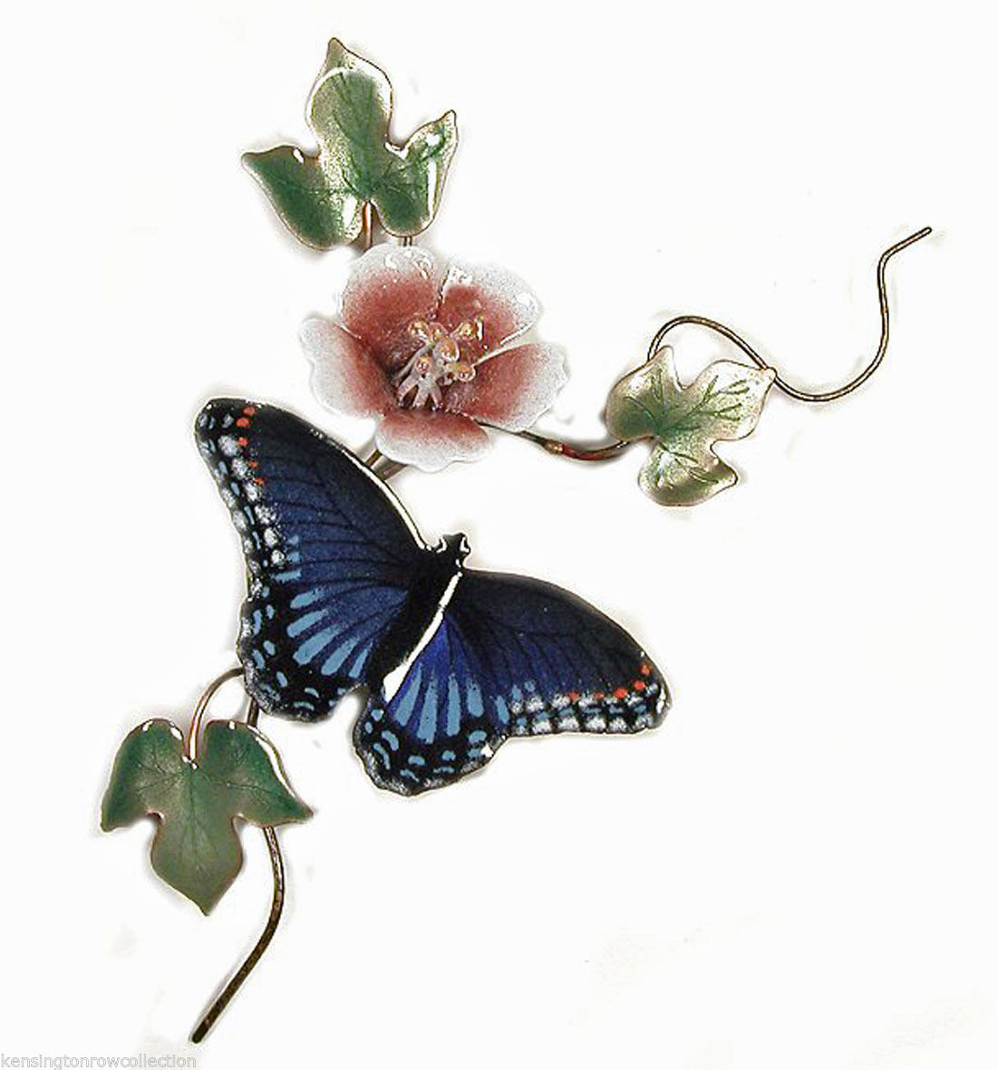 WALL DECOR WALL ART MONARCH BUTTERFLY AND WHITE LILY METAL WALL SCULPTURE