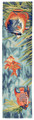 """SOUTH SEAS"" TROPICAL FISH RUG -  2' x 8' RUNNER - INDOOR OUTDOOR RUG"